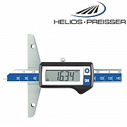 HELIOS-PREISSER Tiefenmessschieber IP67 mit rundem Messstift