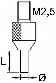 Mikro-Hartmetall-Einsätze für Messuhr (ab 0,4 mm)