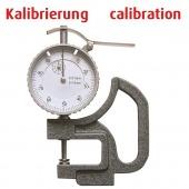 Kalibrierung Dickenmessgerät